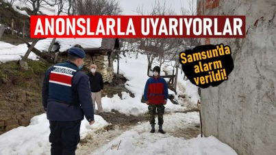 Samsun'da anonslarla uyarıyorlar
