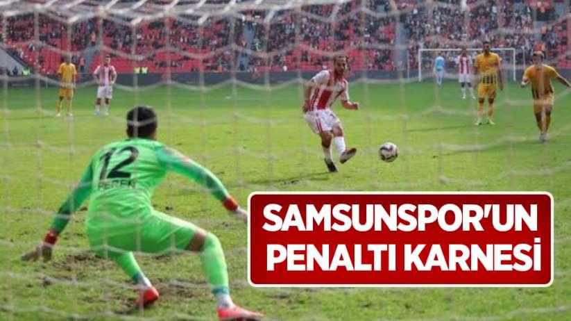 Samsunspor'un penaltı karnesi