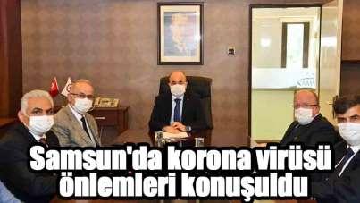 Samsun'da korona virüsü önlemleri konuşuldu