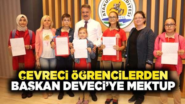 Çevreci öğrencilerden Başkan Deveci'ye mektup