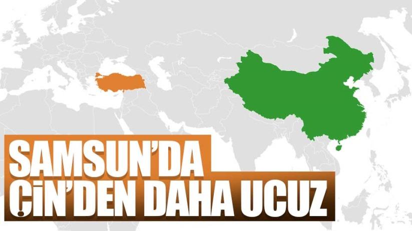 Samsun'da Çin'den daha ucuz
