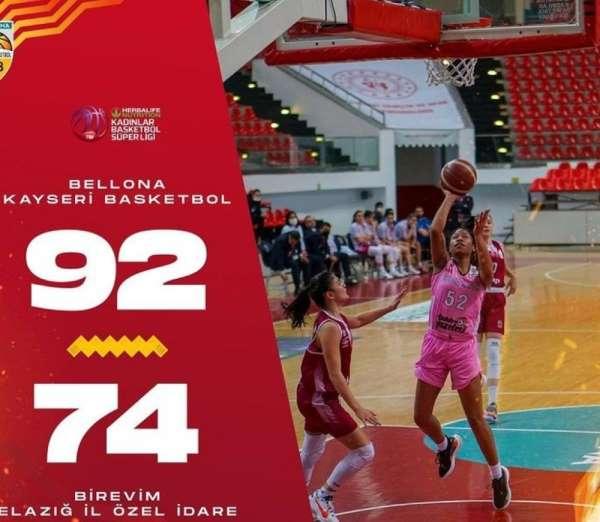 Bellona Kayseri Basketbol:92 - Bir Evim Elazığ Özel İdare: 74