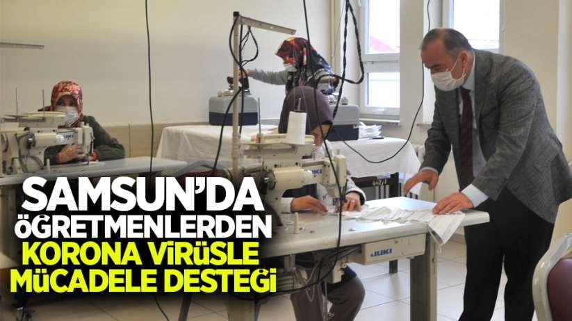 Samsun'da öğretmenlerden korona virüsle mücadele desteği