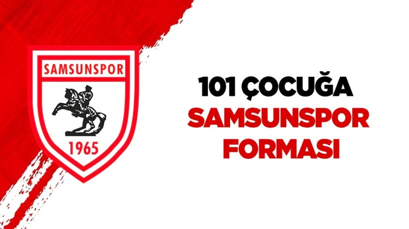 101 çocuğa Samsunspor forması