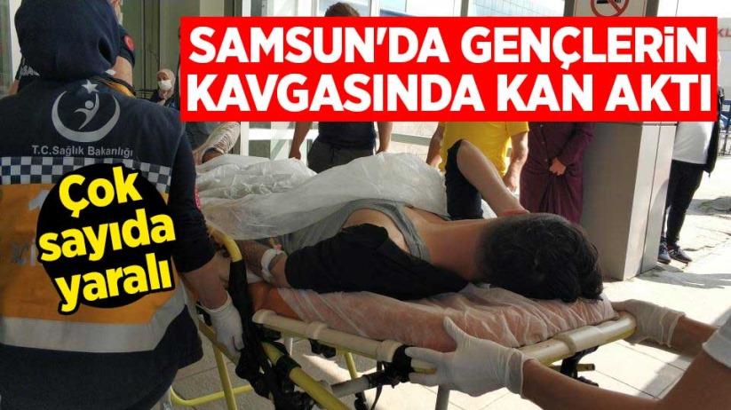 Samsunda gençlerin kavgasında kan aktı: Çok sayıda yaralı
