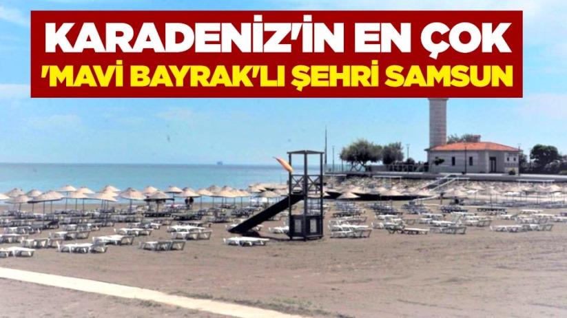 Karadenizin en çok Mavi Bayraklı şehri Samsun