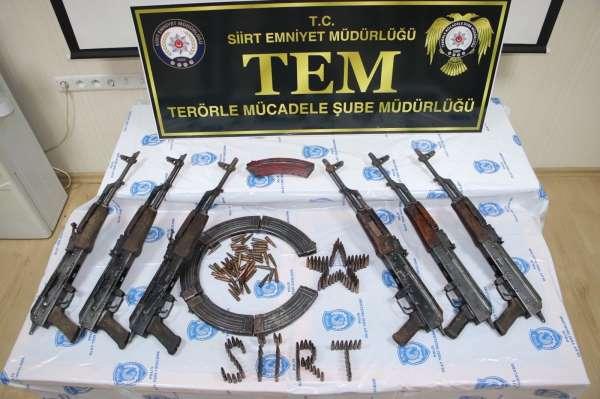 Siirtte PKKlı teröristlere ait mühimmat ele geçirildi