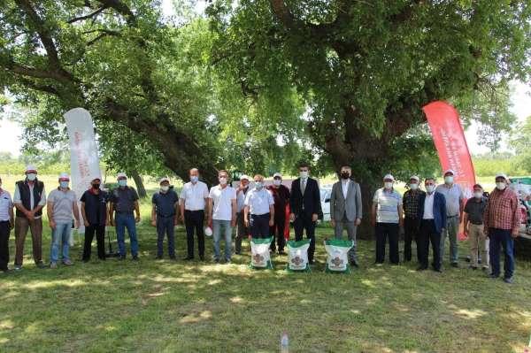 Üreticilere yüzde 75 hibe desteğiyle kuru fasulye tohumu dağıtıldı