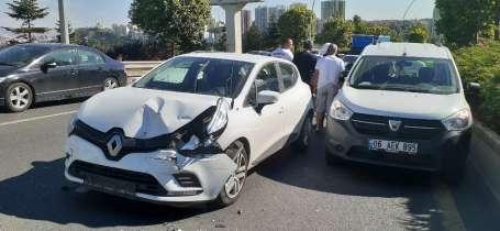 Başkentte zincirleme kaza; 4 araç birbirine girdi