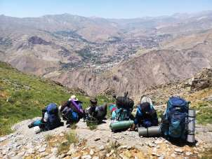 Hakkari Sümbül Dağı'na 2020 yılının ilk tırmanışı yapıldı
