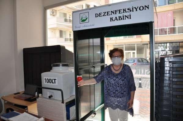 Milas'ta bir firma talep üzerine dezenfeksiyon kabini yaptı