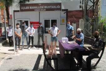 Amasya'da kurban yakalama timi iş başında