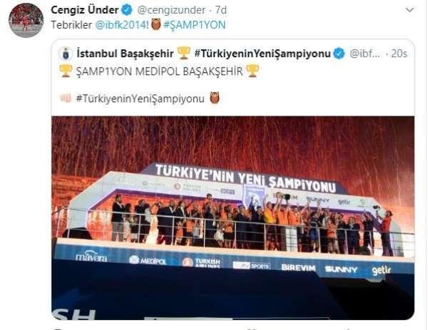 Cengiz Ünder'den Medipol Başakşehir'e tebrik