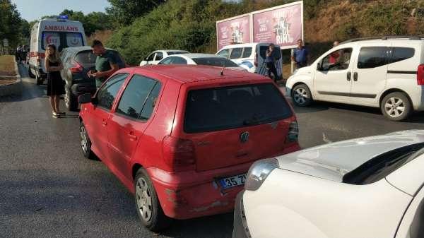Samsunda zincirleme trafik kazası: 1 yaralı