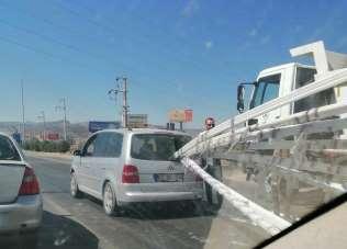 Afyonkarahisar'da ilginç kaza