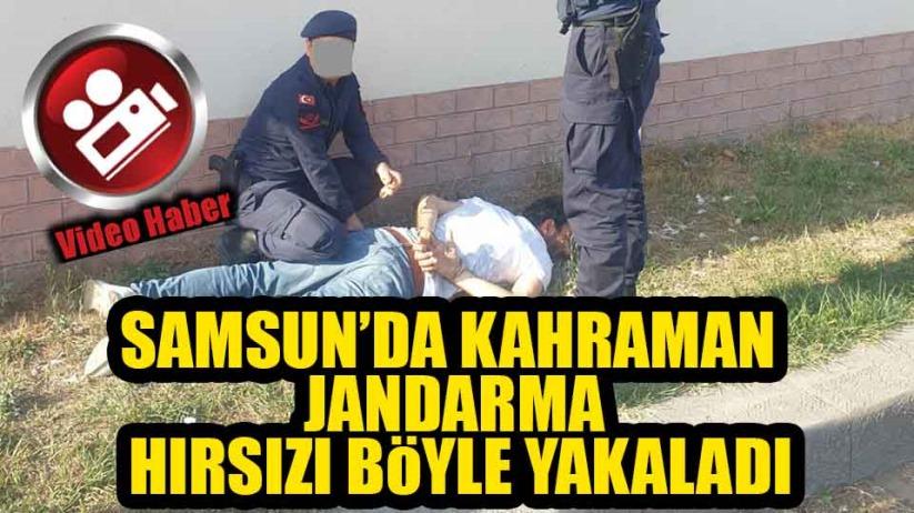 Samsun'da Kahraman Jandarma Kuyumcu Hırsızını Böyle Yakaladı