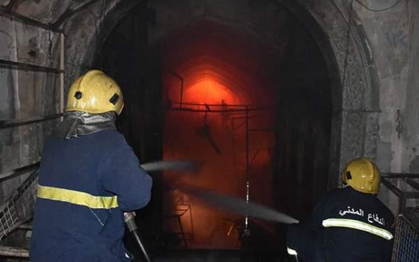 Kapalı Çarşı'da Yangın Çıktı