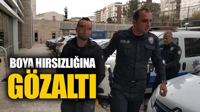 Samsun Haberleri: Boya Hırsızlığına Gözaltı