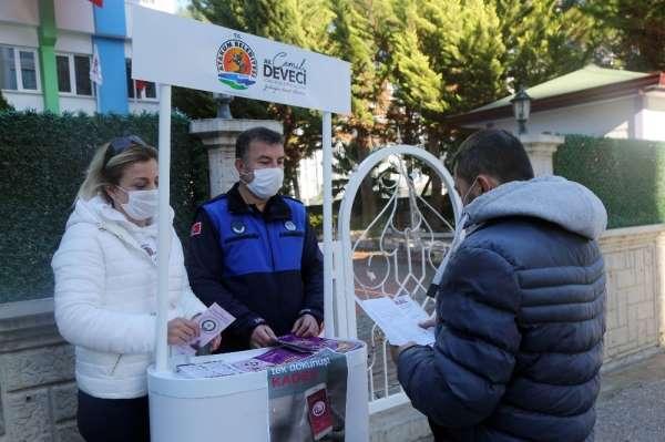 Atakum Belediyesi'nin ekipleri şiddetle mücadele için sahada