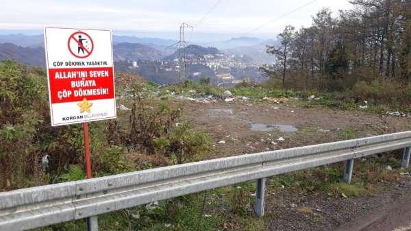 Belediyeden sitemkar levha: 'Allah'ını seven çöp atmasın'