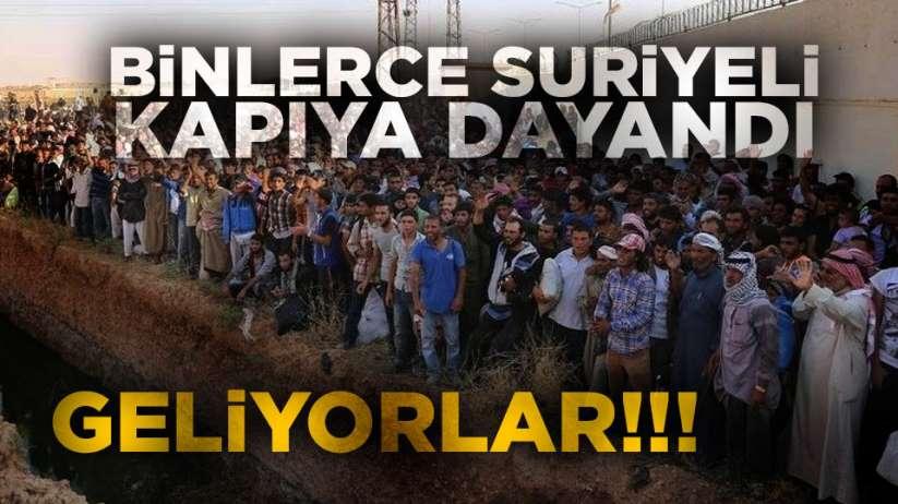 Son dakika! Binlerce Suriyeli Türkiye'ye geliyor