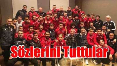Samsunspor oyuncuları sözlerini tuttular
