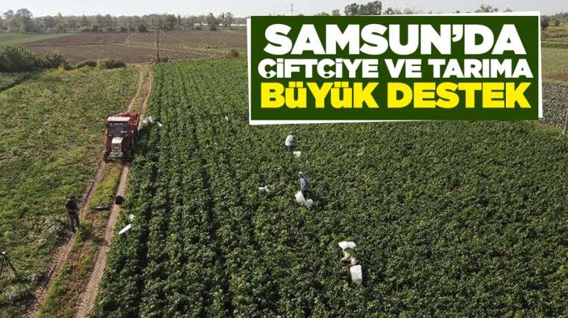 Samsun'da çiftçiye ve tarıma büyük destek