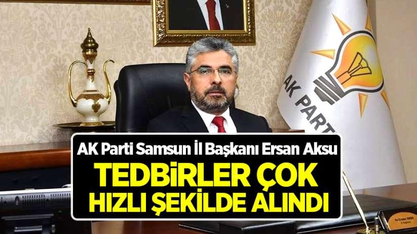 Başkan Ersan Aksu: Devlet milletinin yanında