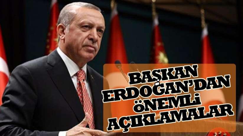 Cumhurbaşkanı Recep Tayyip Erdoğan'dan, Corona virüs açıklaması
