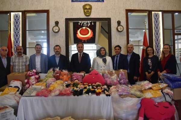 Cerablus'taki çocukların bayram hediyeleri Samsun'dan