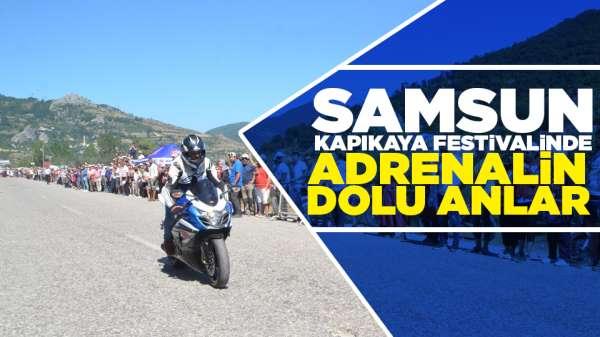 Samsun Kapıkaya festivalinde adrenalin dolu anlar