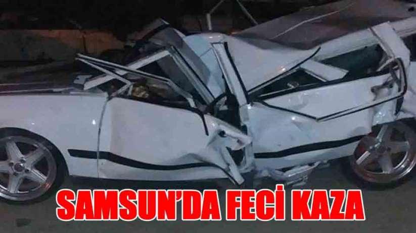 Samsun'da otomobil tırla çarpıştı: 1 ölü, 2 yaralı