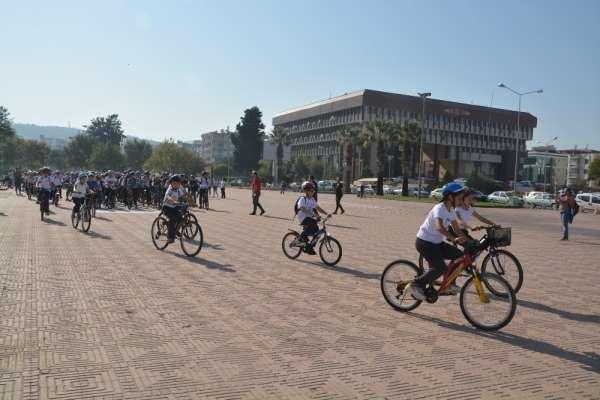 Avrupa Okul Sporları Gününde öğrenciler pedal bastı