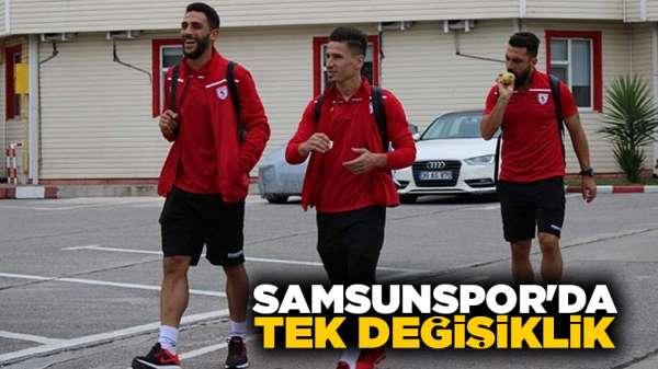 Samsunspor'da Tek Değişiklik