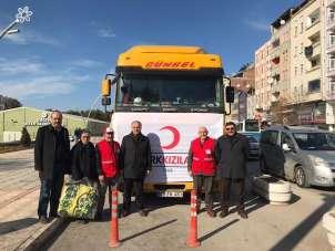 Suluova'dan depremzedelere yardım eli