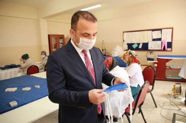 Başkan Kibar: '100 bin maske üretip ihtiyaç sahiplerine dağıtacağız'