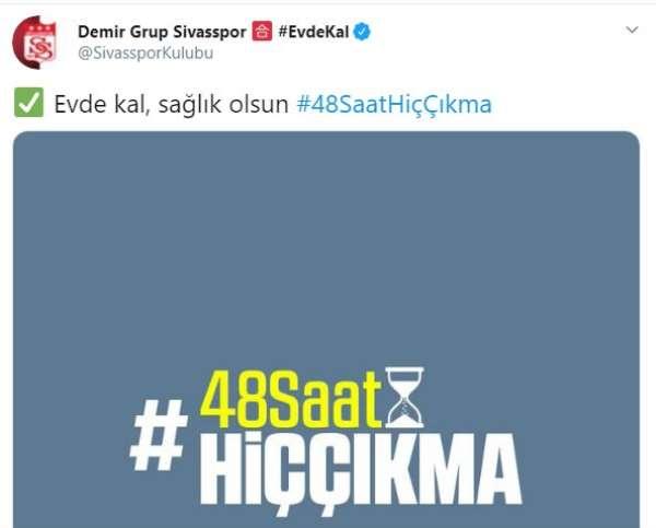 Sivasspor'dan '48 saat çıkma' çağrısı!
