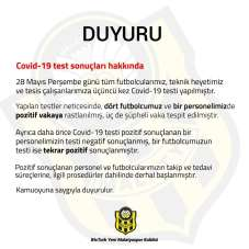 Yeni Malatyaspor'da 4 futbolcu ve 1 personel de korona virüs çıktı