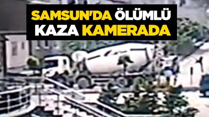 Samsunda ölümlü kaza kamerada