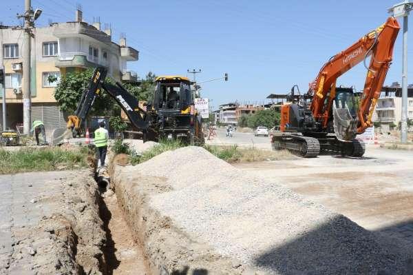 Ahmetlide yağmur suyu altyapı çalışmaları başladı