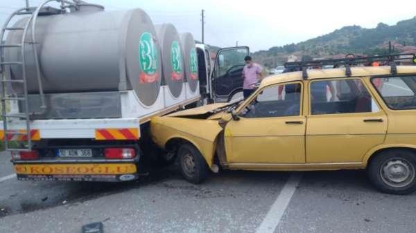 Bigadiçte trafik kazası: 1 ölü, 1 yaralı