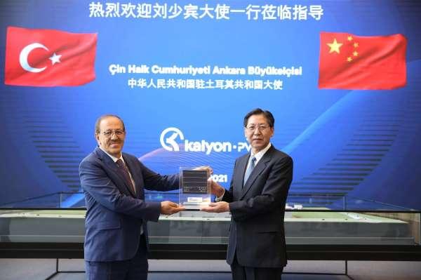 Çin Ankara Büyükelçisi, Kalyon Güneş Teknolojileri Fabrikasını ziyaret etti