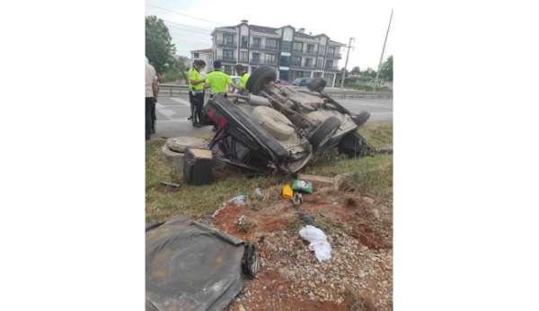 Sakaryada acı kaza: 1 ölü, 1 yaralı