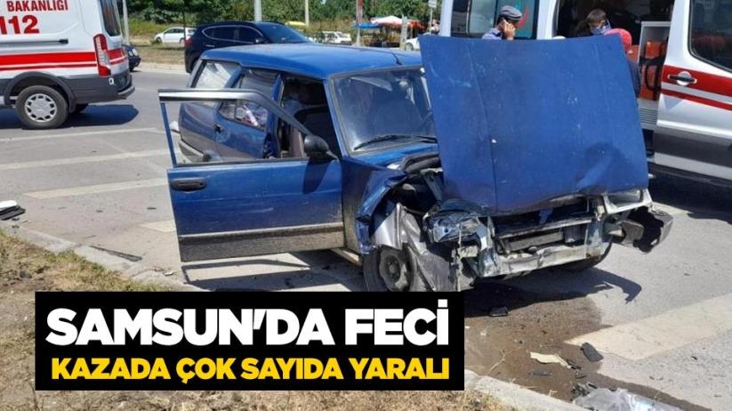 Samsunda feci kazada çok sayıda yaralı