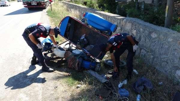 Samsunda tırın çarptığı sepetli motosikletin sürücüsü hayatını kaybetti
