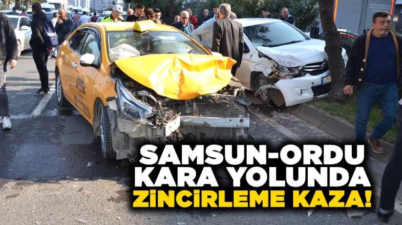 Samsun-Ordu kara yolunda zincirleme kaza!