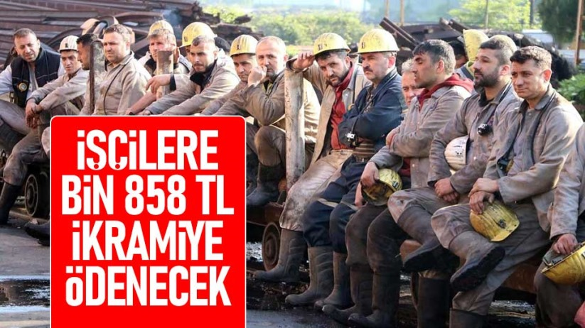 İşçilere bin 858 TL ikramiye ödenecek