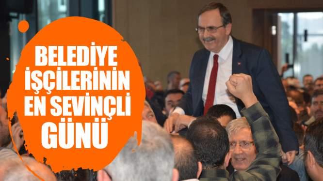 Samsun Haberleri: Belediye İşçilerinin En Sevinçli Günü