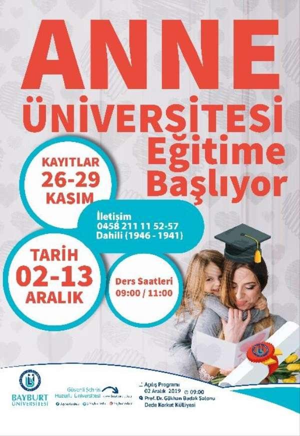 (Düzeltme) Bayburt'ta Anne Üniversitesi eğitime başlıyor