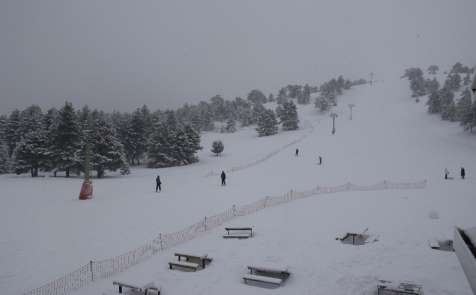 Salda kayak merkezinde kar kalınlığı 50 santimi geçti